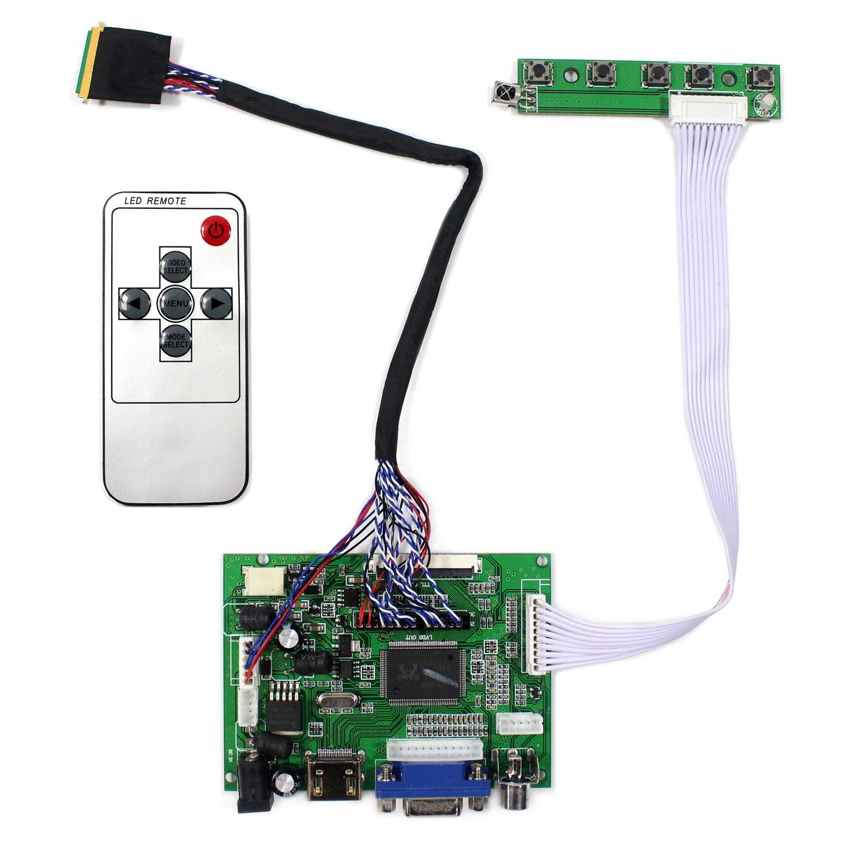 HDMI+VGA+2AV Lcd controller Board work with Lots of LCD panel Driver