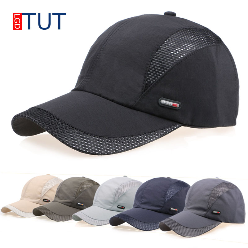 New Summer Sport Mesh Baseball Cap Quick-drying Cap Men Women dad hat Outdoor Sun Quick Dry Breathable Hats Men Women LGDTUT