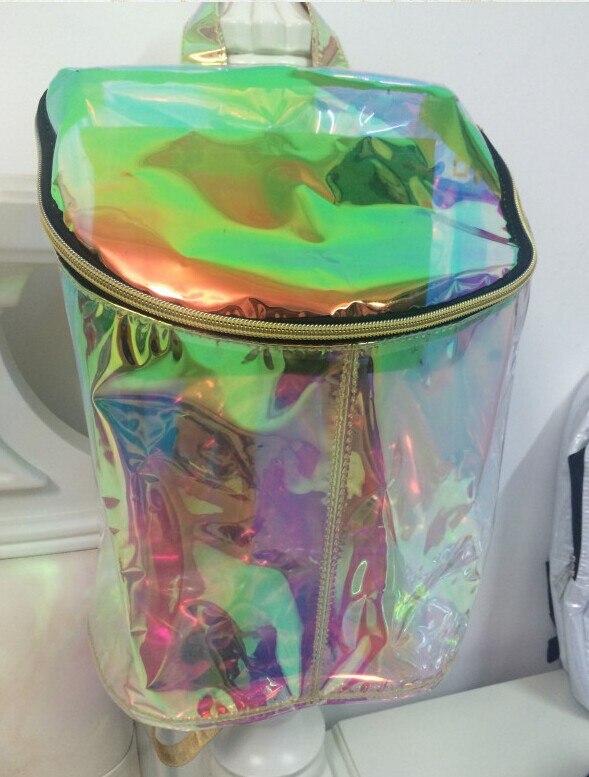 Female Hologram Backpack Fashion Vintage Hologram Bag Women's Backpack  Laser Jelly Transparent Holographic School Student Bag-in Backpacks from  Luggage ...