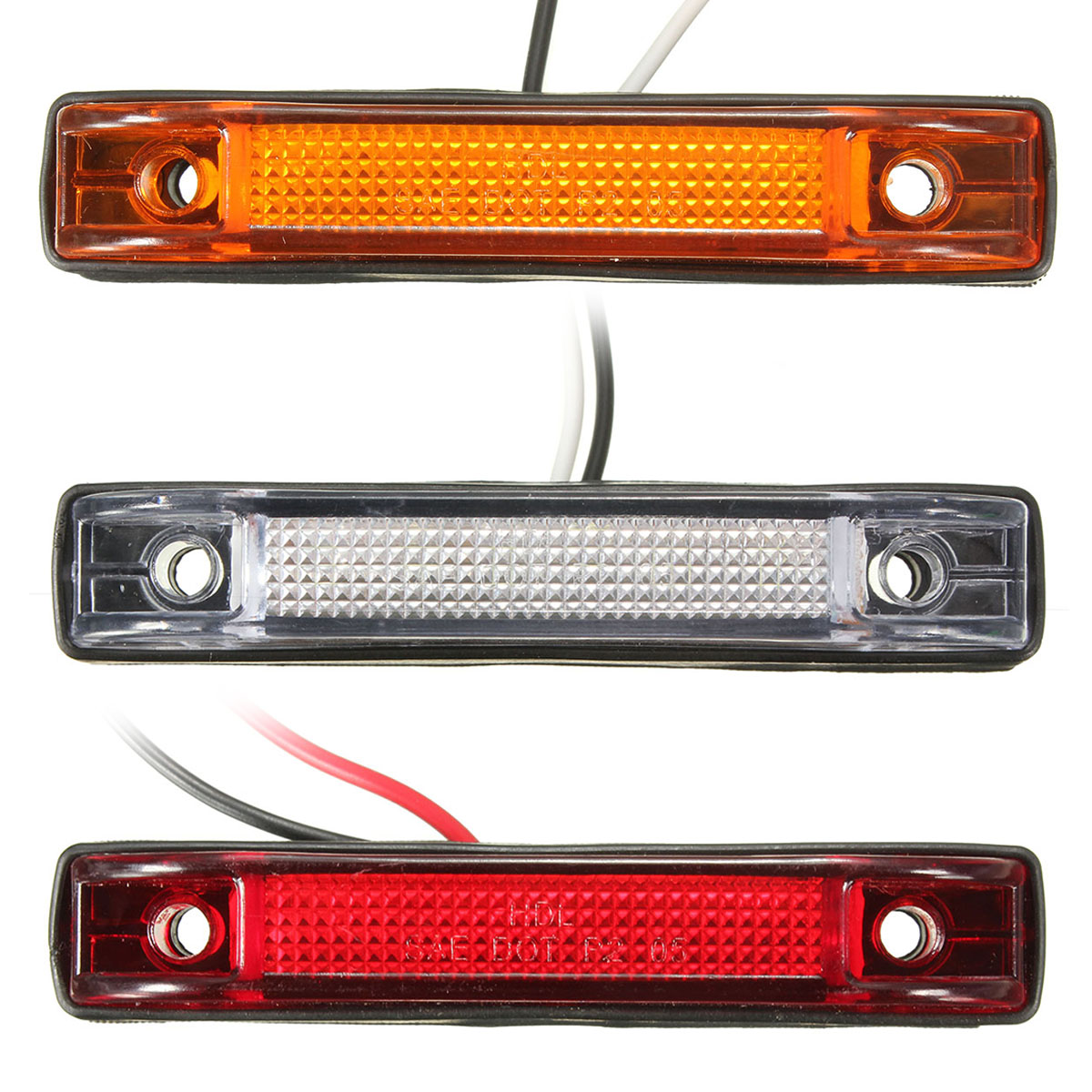 6 LED Utility  LED Car Truck Side Marker Clearance Light Lamp White Yellow Red Truck Trailer Lorry Stop Rear Lamp Side Light