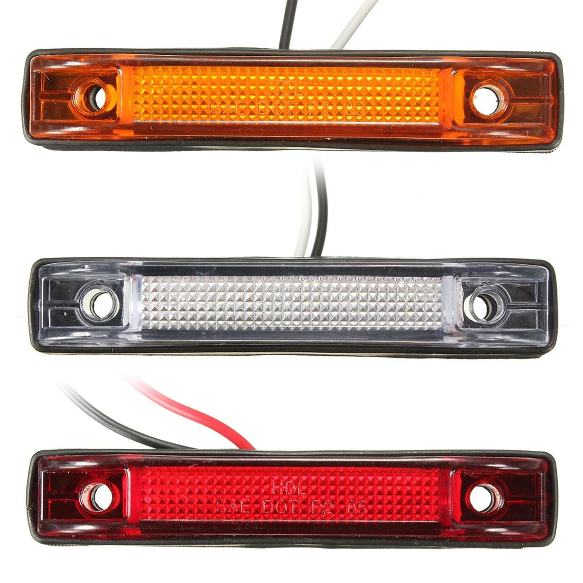 6 Led Utility Led Car Truck Side Marker Clearance Light