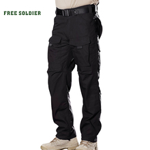 FREE SOLDIER Outdoor Sports Camping Riding Hiking Tactical Pants For Men Four Seasons Multi-pocket YKK zipper Men Trousers(China)