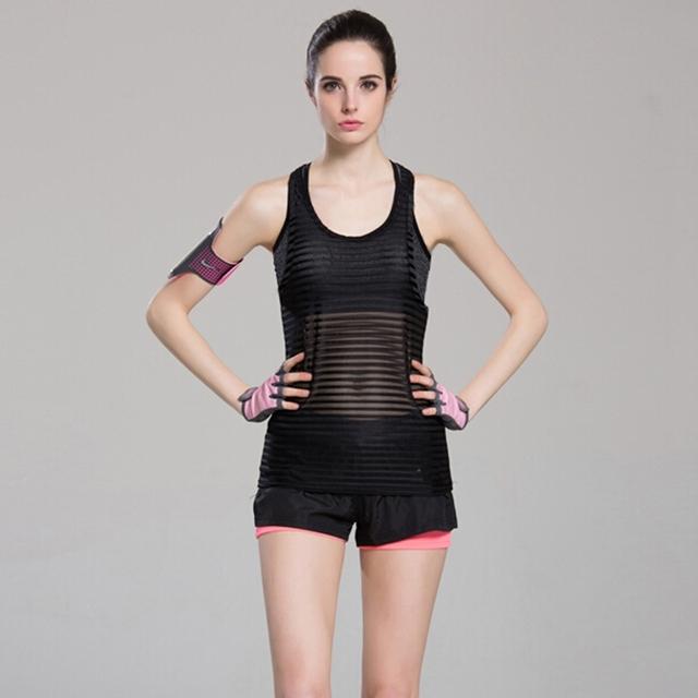 Striped Sport Yoga Gym Vest Tank Top
