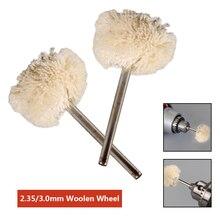 Mola per lucidare la lana con gambo da 2.35MM/3.0MM Set di spazzole per lucidatura da 10 pezzi accessori Dremel per utensili rotanti
