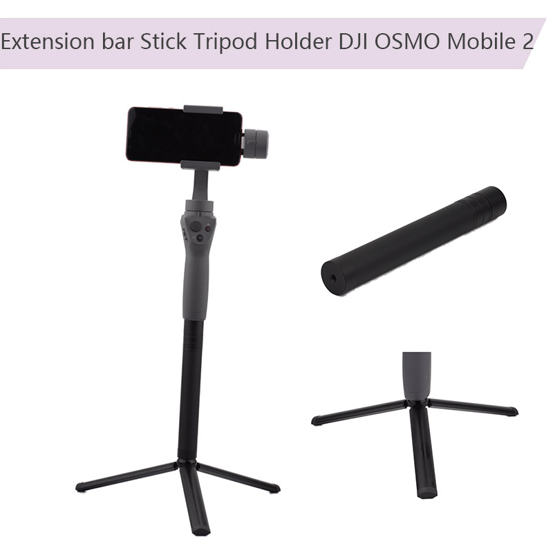 2 in 1 Extension bar Stick and Portable Folding Tripod Holder for DJI OSMO Mobile 2 Feiyu Zhiyun Handheld Gimbal Action Camera