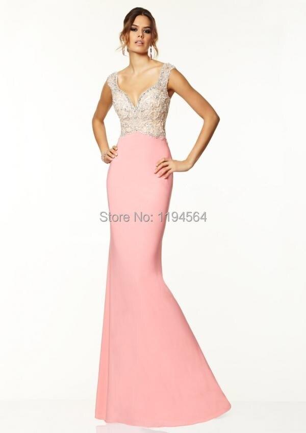 2015 vestido de noche vestidos para la playa de color rosa de la ...