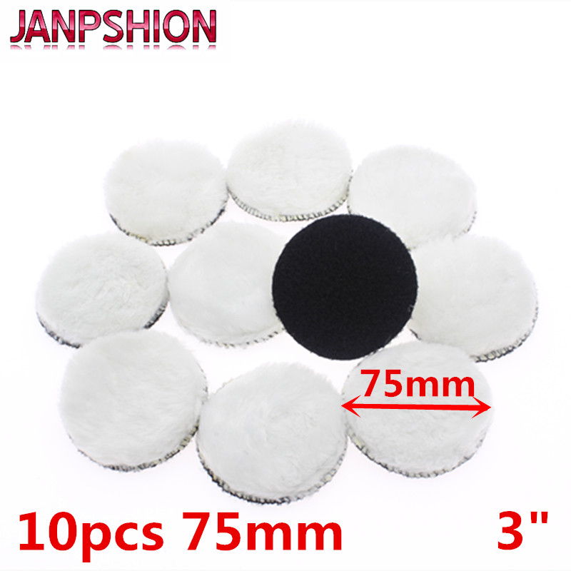 JANPSHION 10pc 75mm Car Polishing Pad 3