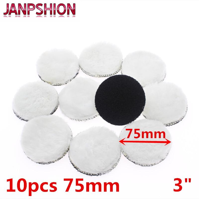 JANPSHION 10pc 75mm Car Polishing Pad 3