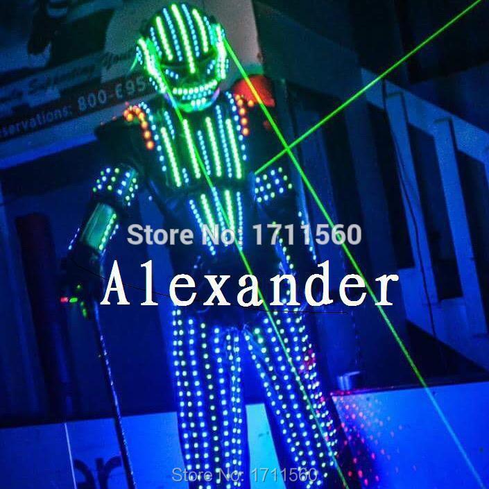 Costume de robot de LED/vêtements de LED/costumes de lumière LED/costumes de Robot de LED/costume lumineux