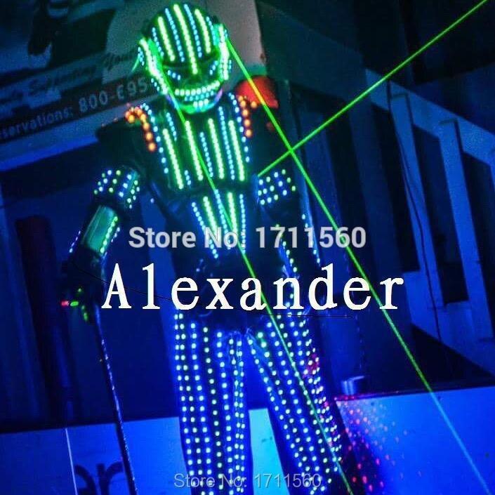led robotdräkt / LED-kläder / LED-ljusdräkter / LED-robotdräkter / Lysande kostym
