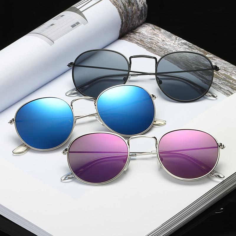 9e39f967d867 Women s Sunglasses 2018 Fashion Round Sun glasses Brand Designer Alloy Eyeglasses  Vintage Metal Hinge Glasses lady Sun glasses