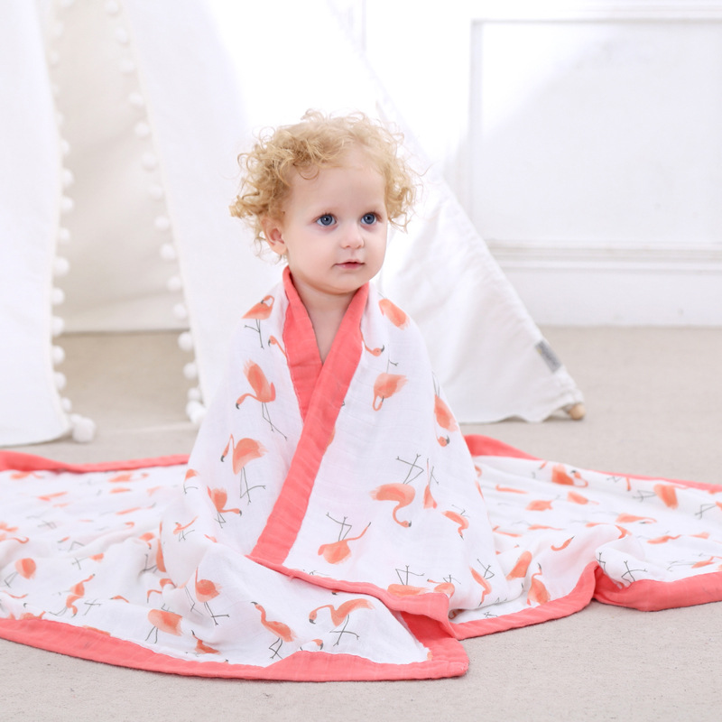 4 Layers Baby Bamboo Blanket Autumn & Winter Bedding Newborn Wraps Baby Kids Cover Quilt Infant Travel Bath Towel Size 47*47 6 layers cotton muslin baby blanket swaddles bedding 2017 autumn & winter cartoon cute infant bath towel kids quilt size 47 47