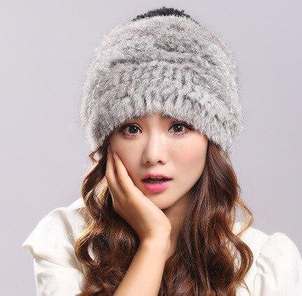 2016 rabbit fur hat children in winter to keep warm with thick wool hat European rabbit hair braided leather hat