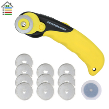28mm Rotary Cutter 10PC Replacement Blades with Plastic Box fit Quilters Sewing Fabric Leather Cutting Quilting Sew Kit Tool