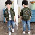 Free shipping 2017 spring autumn old children leisure jacket Embroidered Baseball uniform Kids boys outerwear