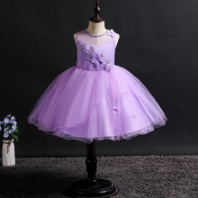 new kids girl dress baby clothes princess wedding dresses sleeveless Stage performance