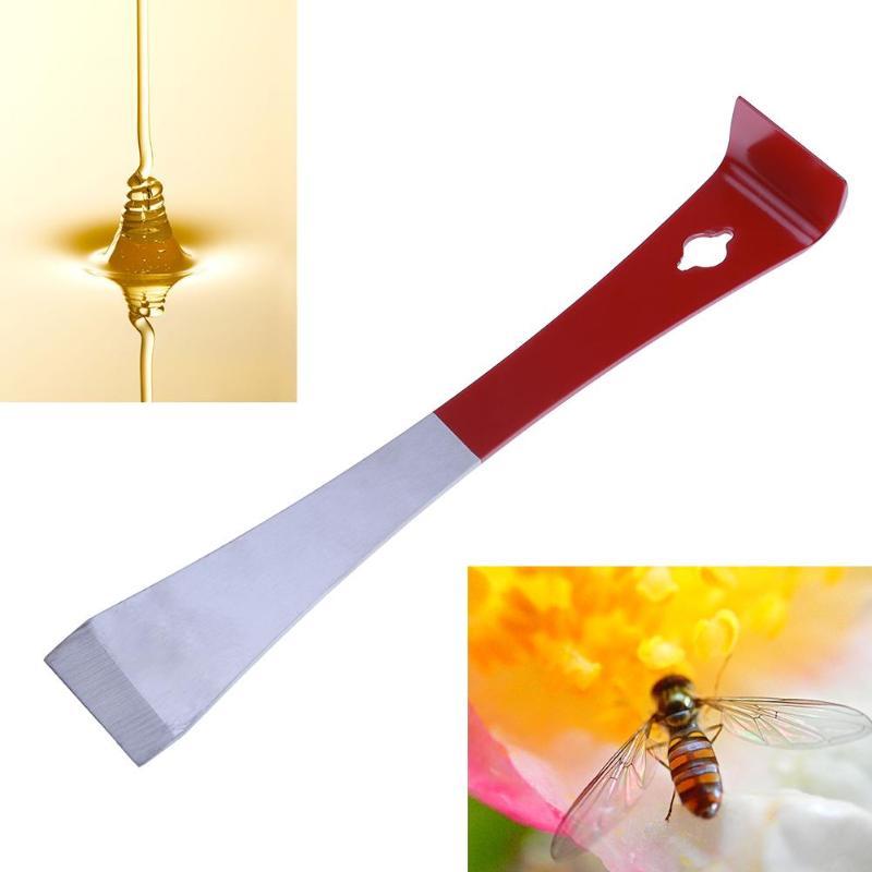 Stainless Steel Bee Hive Honey Claw Scraper Spatula Holder Beekeeping Pry