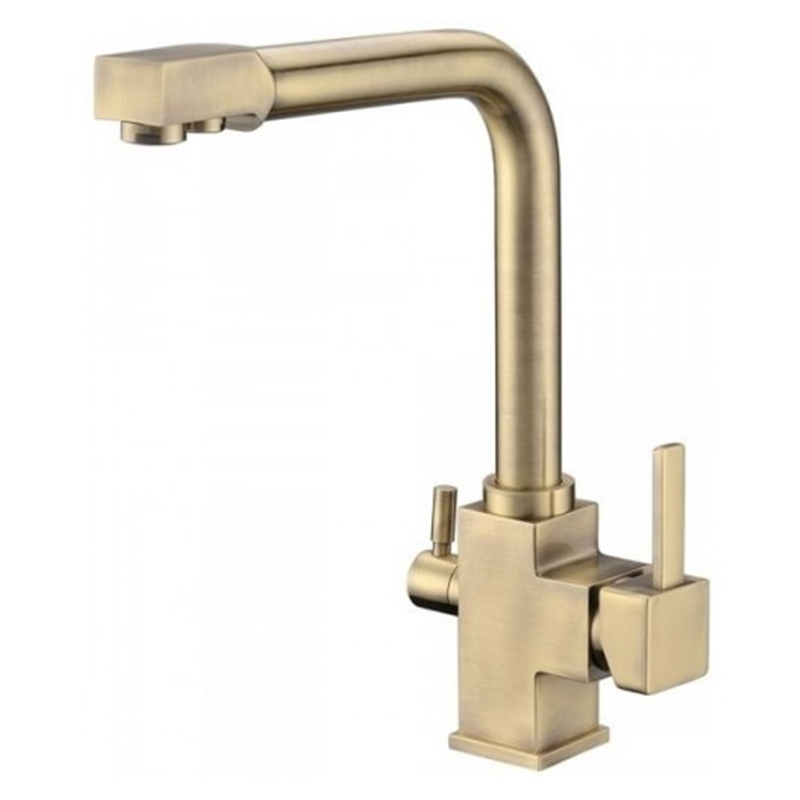Factory Direct Wholesale Chrome Finished Osmosis Reverse Triflow Water Filter Tap Three Ways Sink Mixer 3 Way Kitchen Faucet