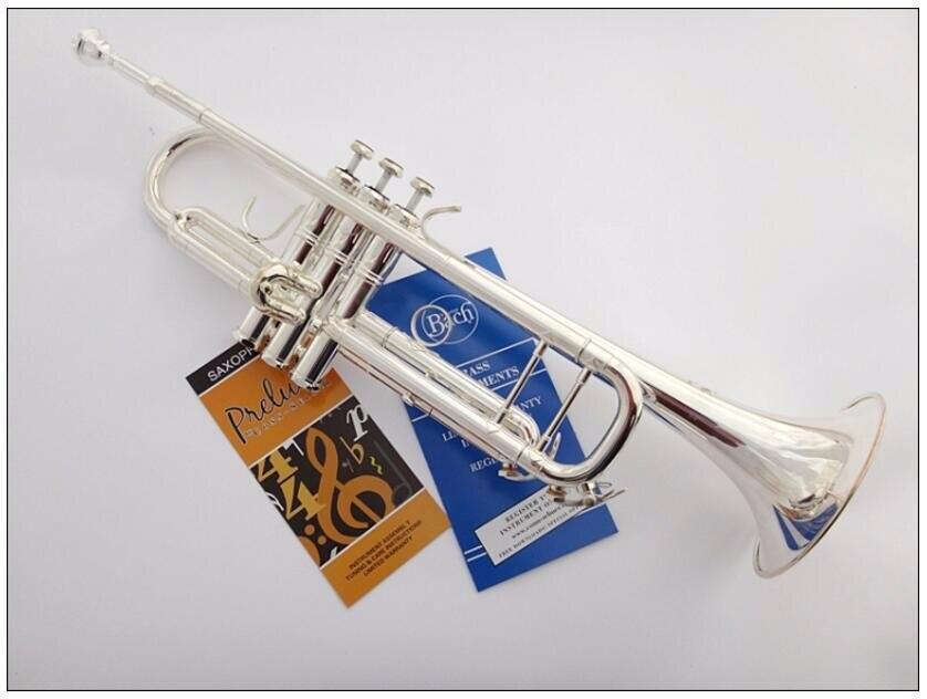 DHL, UPS бесплатно старшего Баха Посеребренная труба Баха LT180S 43 небольшой латунный музыкальный инструмент Trompeta Профессиональный высокого класса. - 2