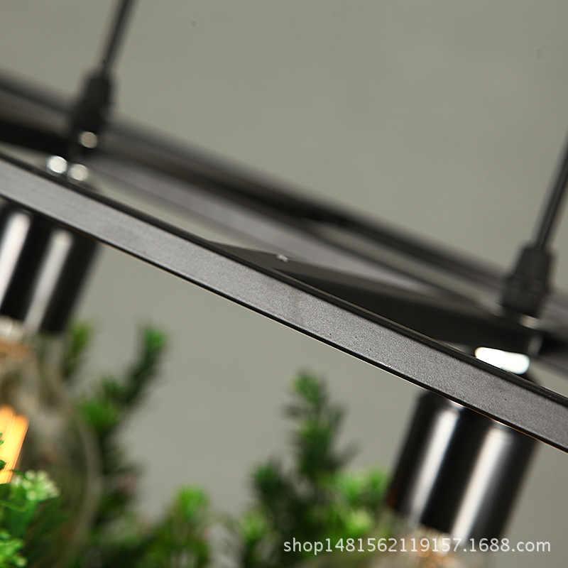 Современный простой деревянный и Железный Люстра светильник ing 3 вида кованого железа завод горшок бар ресторан балкон Творческий подвесной светильник