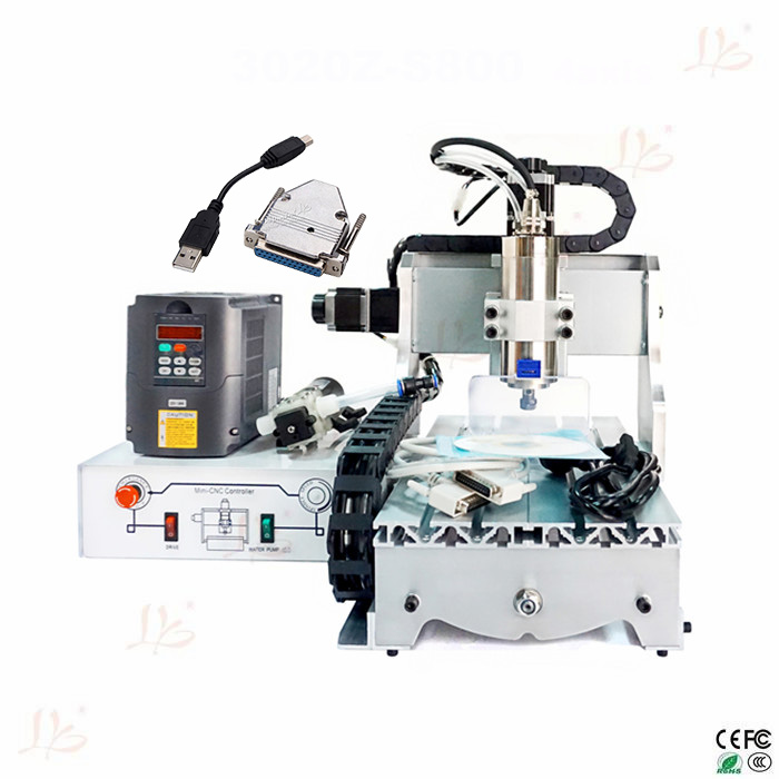 Free tax to Russia 800W water cooling spindle Ball screw CNC ROUTER 3020 desktop wood lathe cnc router wood milling machine cnc 3040z vfd800w 3axis usb for wood working with ball screw