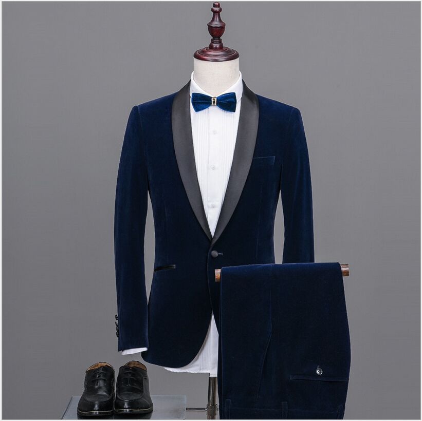 New Brand Fashion Mens Suits Business Blazers Slim Fit Male Tuxedos Groom Wedding Prom J ...