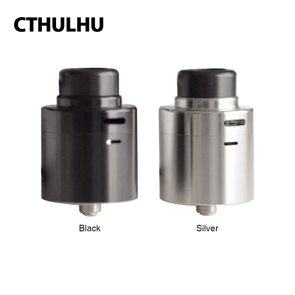 New Cthulhu Zathog RDA Dual Coil Rebuildable Atomizer 30mm Diameter Top/Side Airflow Stainless Steel 810 Drip Tip fit Squonk MOD
