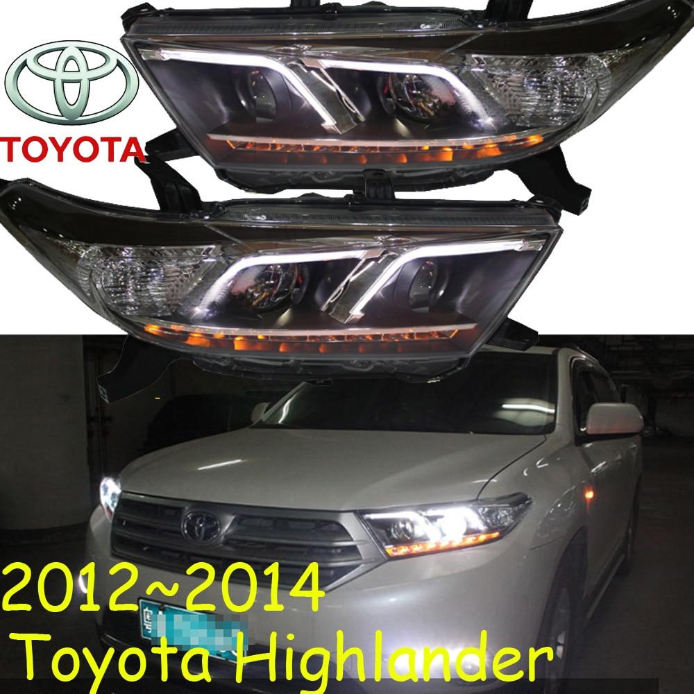 Highlander Headlight,2012~2014,Free Ship! Highlander Fog Light,2ps/set+2pcs Ballast,Highlander Driver Light,Highlander