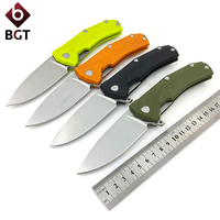 WTT KUR Folding Pocket Knife G10 Handle Tactical Combat Survival EDC Portable Knives Utility Hunting Camping