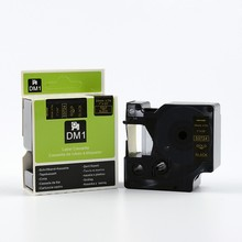 Free shipping 3PK/lot 24mm*7m dymo label maker DYMO D1 gold on black color 53724 for DYMO label printer