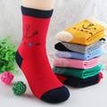 2015 Frete grátis por atacado 5 pares de alta qualidade de algodão penteado grosso meias infantis meninos meninas crianças meias para 5 design escolher