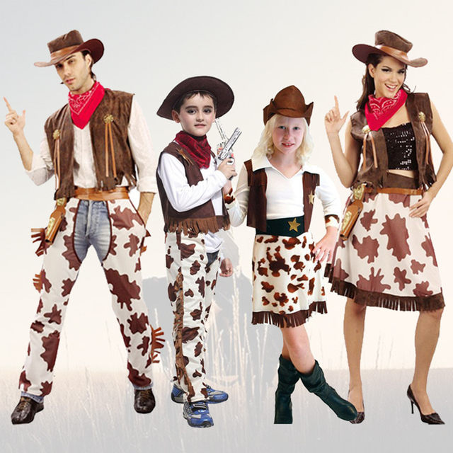 mxl new pretty west cowgirl children cosplay halloween costume for kids dress up party girl carnival stage suit set