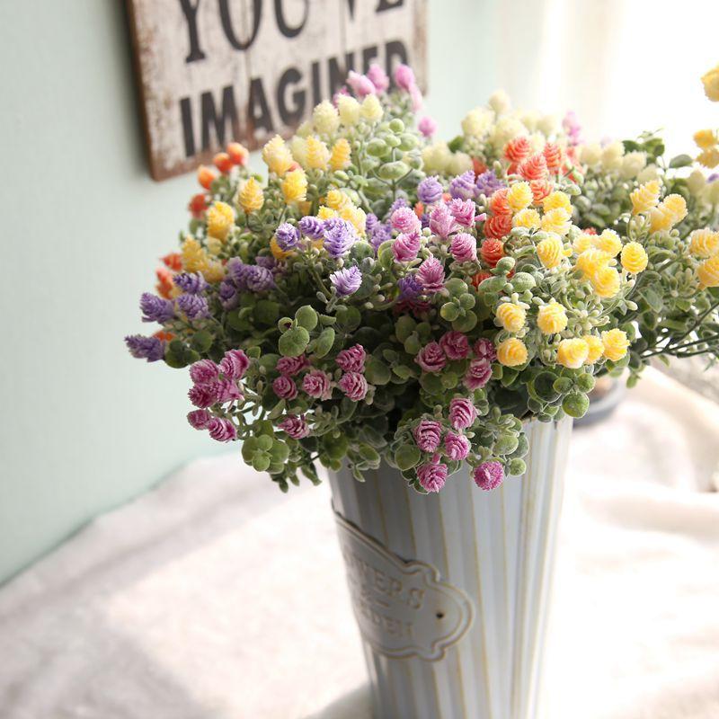 1 Demet Yapay Çiçek çam kozalağı Buket Akın Plastik Kırsal - Tatiller ve Partiler Için - Fotoğraf 3