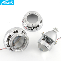 Ronan 3.0 inch metal bi xenon projector lens with led angel eyes shrouds for socket H1 H4 H7 car styling DIY retrofit