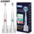 Azdent carga inalámbrica oral de sonic cepillo de dientes eléctrico ultrasónico cepillo de dientes eléctrico recargable cepillo de dientes para adultos niños