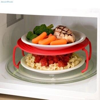 4 trong 1 lò vi sóng chân đế bằng nhựa đó là một tray, một nhựa stacker một nắp và một rack làm mát