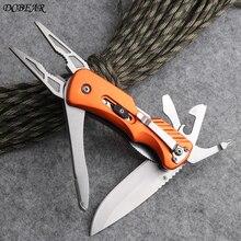 Alta qualidade bolso faca de acampamento alicate multitool dobrável ferramentas edc sobrevivência ao ar livre caça ferramentas manuais dsp043p