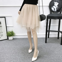 Cheap Tulle Skirts Saia Irregular Hilow Women Skirt Free Shipping 2018 Hot Sale Real Photo Skirts