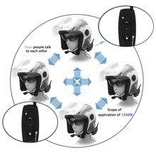 High Quality V2-500M Bluetooth Motorcycle Helmet Intercom Interphone 2 Riders BT Walkie Talkie For Skiing Cycling Helmet