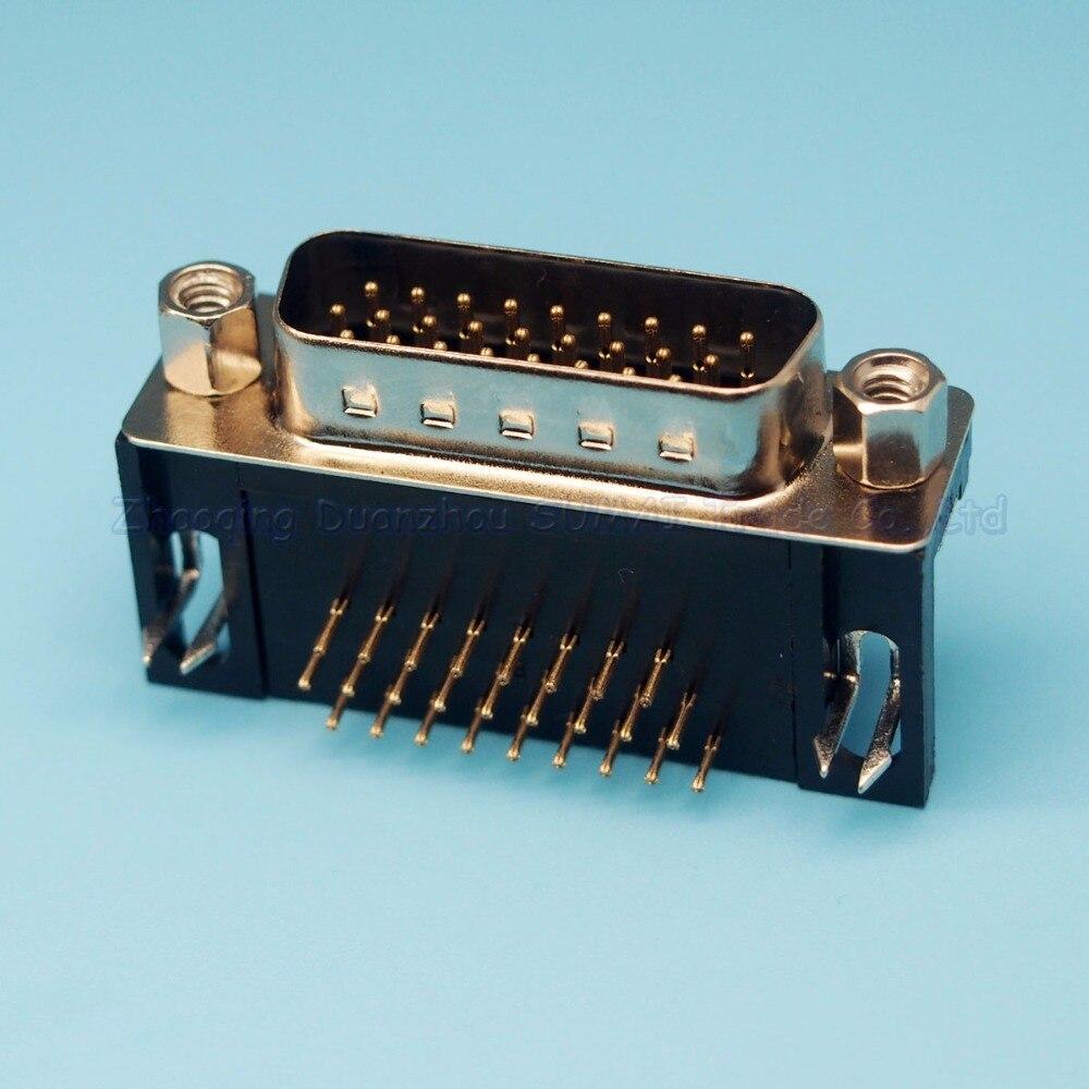 10x VGA socket DR15 female to female three-row 15P bend Adapter