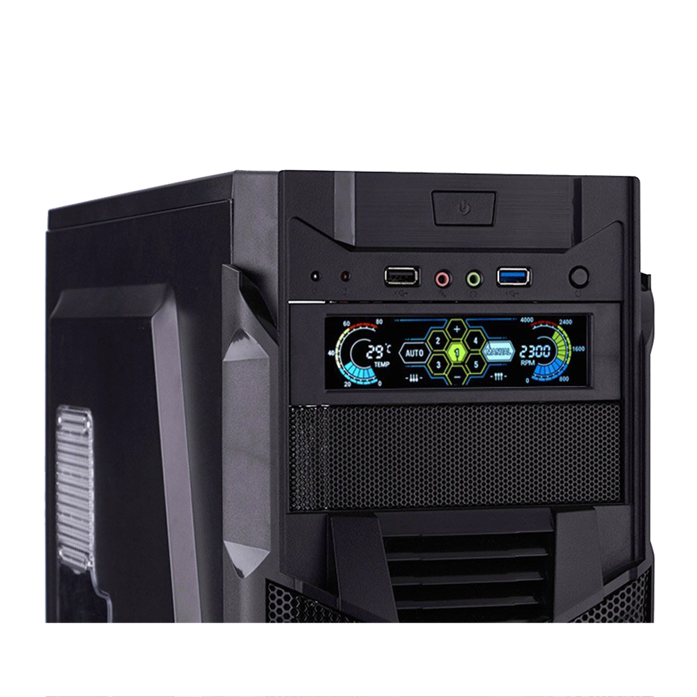 Image 4 - hot STW Fan Controller LCD Touch Screen Plastic 5.25 Inch Bay  Front 5 Fan Speed Computer CoolingFans