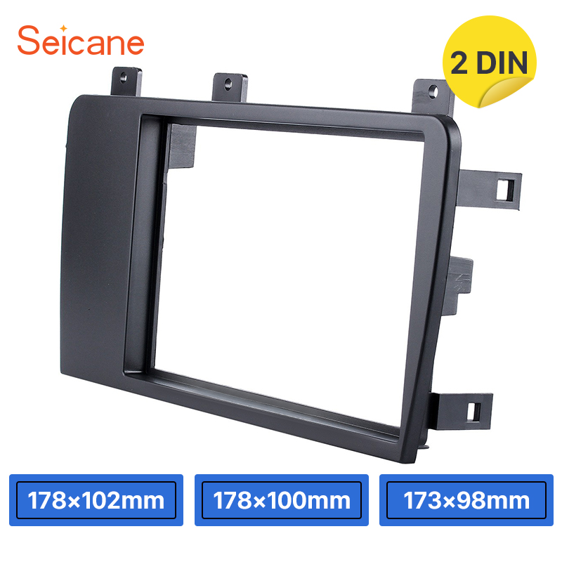 Seicane 173 98 178 100 178 102mm refitting Dashboard Trim Kit 2 Din Car Stereo Panel