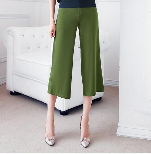 2019 large size loose women's   pants   summer casual pass 7 points   wide     leg     pants