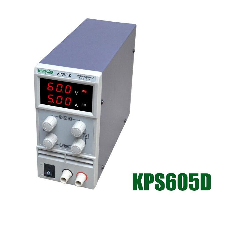 605D регулируемый высокой точности двойной светодиодный дисплей переключатель DC Питание функция защиты 0-60 В/0-5a 110 В -230 В 0.1 В/0.01a ЕС