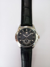 2016 Luxruy Marca Gran Reloj de Los Hombres fuera Del Deporte Militar Reloj de Cuarzo de Cuero Genuino Reloj de Los Hombres Reloj de pulsera de Cristal de Zafiro Resistente Al Agua