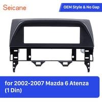 Seicane 1 Din Fascia Dash Plate Frame for Mazda 6 Atenza Car Radio Surrounded Installation Frame Trim Panel Kit Fascia Plate
