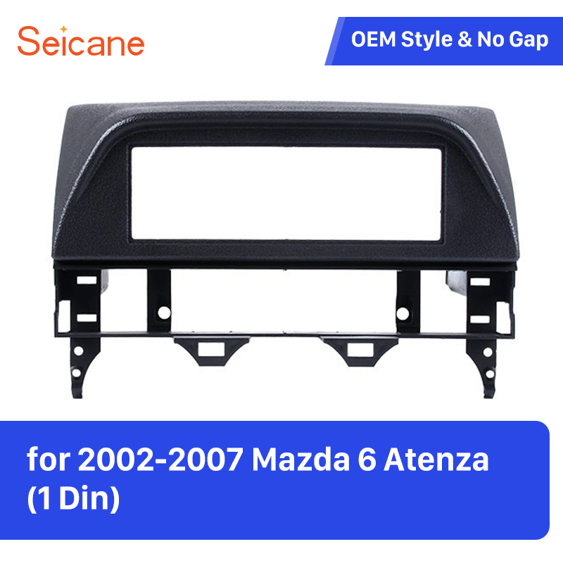 Seicane 1 Din Fascia <font><b>Dash</b></font> Plate Frame for <font><b>Mazda</b></font> <font><b>6</b></font> Atenza Car <font><b>Radio</b></font> Surrounded Installation Frame Trim Panel <font><b>Kit</b></font> Fascia Plate image