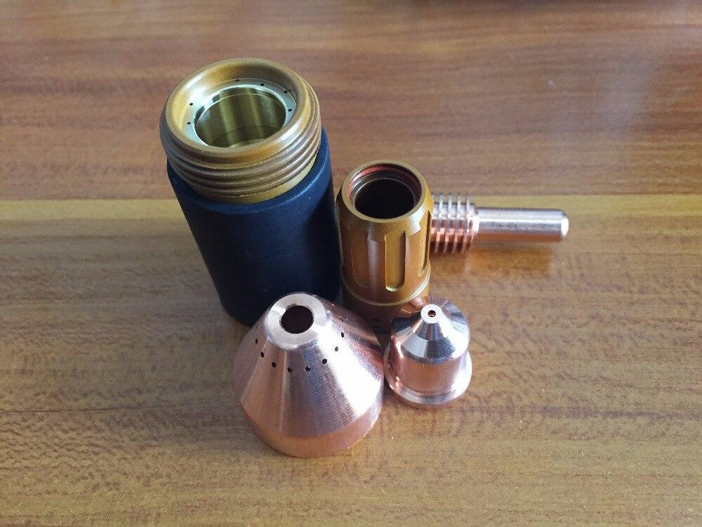 220842 Électrode 40 pcs + 220990 Buse 40 pcs 105A, 80 pcs par lot Plasma Consommables pour 105A Plasma De Coupe
