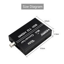 Free Shipping HDMI To HDMI Converter SDI To HDMI Converter Adapter Support SD/HD-SDI/3G-SDI Signals Showing on HDMI Display lkv368 hd sdi to hdmi converter black