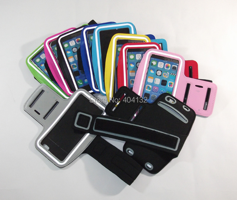 (200PCS/Lot) Good Quality For iPhone 6 Plus 5.5'' Armbands Gym Sports Cell Phone Arm Band Bag Pouch By DHL Fedex sherrytree